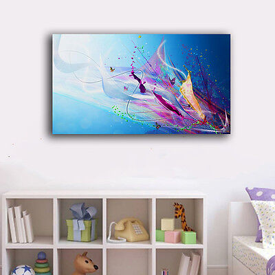 Abstract Color Butterfly Stretched Canvas Prints Framed Wall Art Home Decor Gift