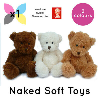 1x JAMES TEDDY BEARS SOFT TOYS WHOLESALE BULK BUY WITHOUT CLOTHING PLAIN NAKED