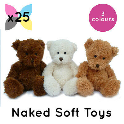 25 'james' Teddy Bears Soft Toys Wholesale Bulk Buy Without Clothing Plain Naked