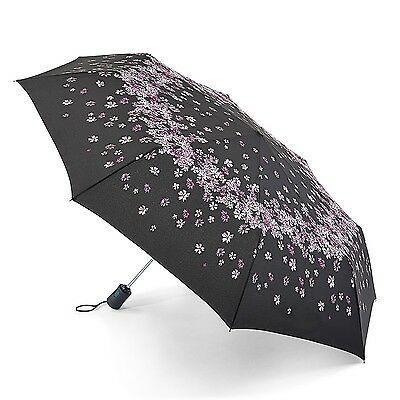 Fulton Ladies Automatic Open & Close Folding Umbrella - Raining Bloom