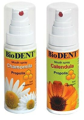 Biodent mouth sprays to prevent bacterial & viral infections of the mouth&throat