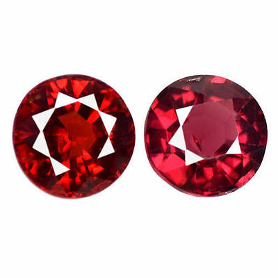 1.150Ct GORGEOUS! SPLENDID LUSTER PIGEON BLOOD RED BURMA NATURAL SPINEL 2P ROUND