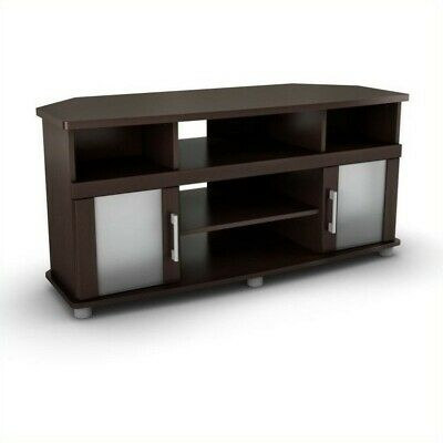 South Shore City Life Corner LCD TV Stand in Chocolate