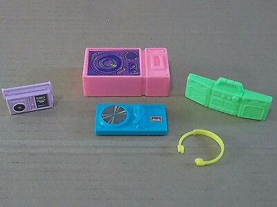 "Vintage Barbie Type 12"" Fashion Doll Audio Equipment Including Headphones"