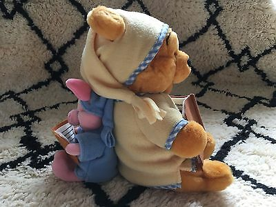 Vintage Disney Store Winnie The Pooh & Piglet Bedtime Reading Plush Toy