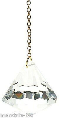 Pendulum Diamond Crystal GM 40MM - Dowsing, clairvoyance