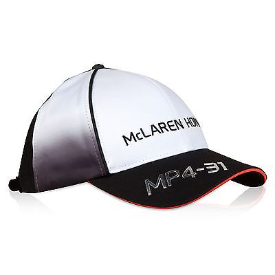 McLaren Honda Unisex Official 2016 Team Cap Hat - Black