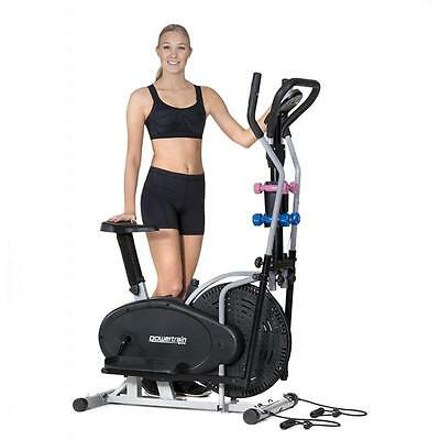 Exercise Cross Elliptical Trainer Spin Bike Bicycle Fitness Home Gym Dumbbells