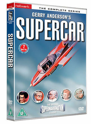 SUPERCAR  the complete series. Gerry Anderson 7 disc box set. New sealed DVD.