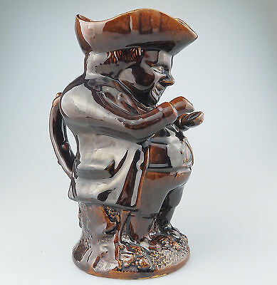 """Antique : A """"Rockingham"""" Treacle Glazed Pottery Snuff-Taker Toby Jug"""