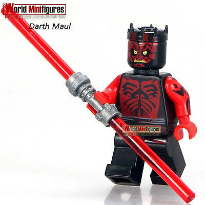 STAR WARS EXCLUSIVE SHIRTLESS DARTH MAUL Building Blocks Minifigures Xmas Gift