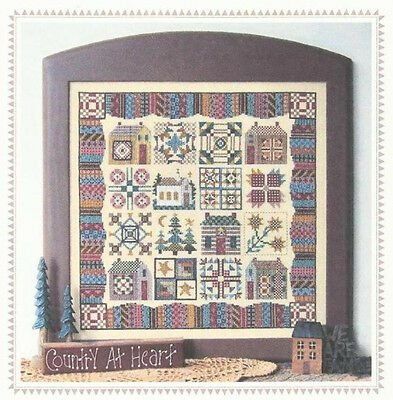 Calico Village - Counted Cross Stitch Pattern - Linda Myers Designs