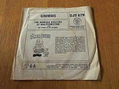 "Grimms - The Womble Bashers Of Walthamstow - 1976 7"" Djm Promo P/s Ex"