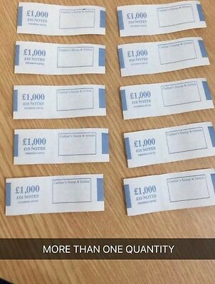 10 X £10 Money Bands . Hold £10 Notes Of £1000