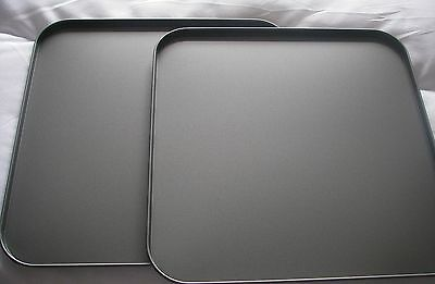 2 x Non-Stick Large Baking Sheet 31X31cm Oven Proof 240 Car/464F Tray Dish squre