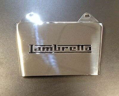 "Mud flap stainless steel  ""LAMBRETTA"""