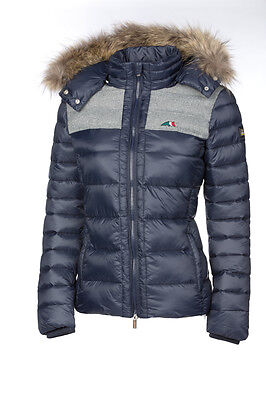 Equiline Women's 'Juliet' Padded Jacket - Blue- Size: Small