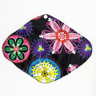 """Large Heavy Overnight 11.5"""" Washable Reusable Bamboo Cloth Sanitary Period Pad"""