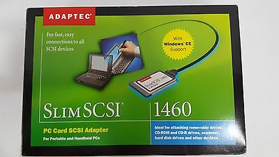 New Sealed Adaptec APA- 1460D SlimSCSI PC Card Kit Adapter  Fast SCSI 1807400-B
