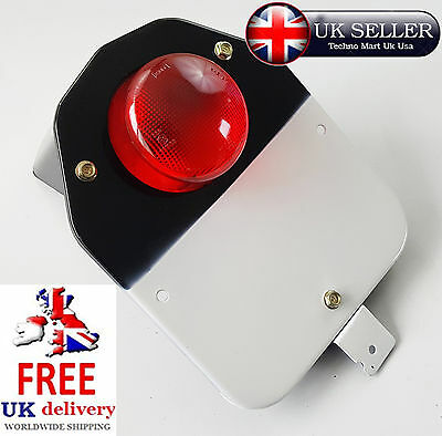 Royal Enfield Motorbike Classic Number Plate And Complete Rear Tail Light Assy