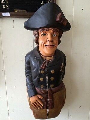 Antique Hand Carved Wooden Ships Mast Head