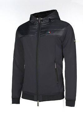 Equiline Mens 'Gianmarco' Bonded Jacket - Black - Size: Medium
