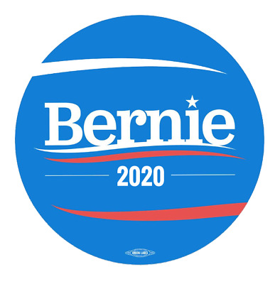 """PACK OF 20 - Updated 3"""" Circular Bernie Sanders 2020 Stickers - Free Shipping!"""