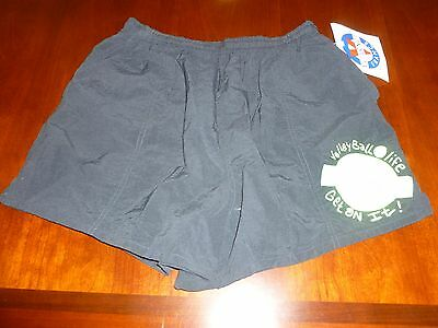 VINTAGE 1980'S VUARNET FRANCE SURF Volleyball Swimsuit Shorts Black XL NWT