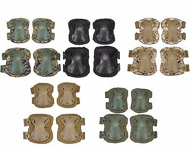 Lancer Tactical Airsoft Paintball Quick-release Knee & Elbow Pad Set AC-478