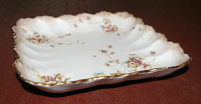 Royal Doulton Burslem Porcelain Square Wavy Edge Plate/Dish 1891-1902