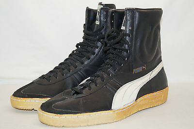 PUMA CONTACT HIGH 80th Gr.45 UK:10 schwarz  West Germany made