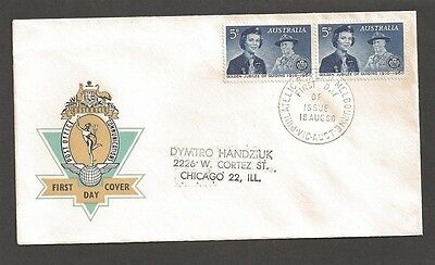 1960 Australia Scout Girl Guide Jubilee FDC Melbourne Post Office cachet