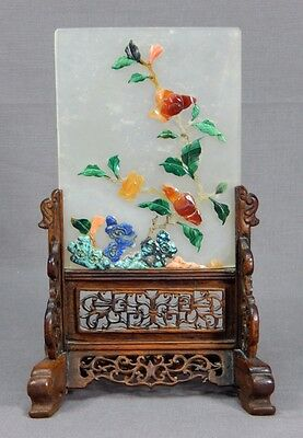 Antique Early Chinese Jade Scholar's Table Screen