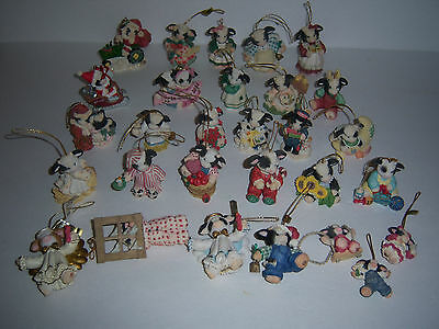 Mary's Moo Moos Huge Lot of 29 Ornaments