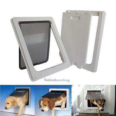 Extra Large Pet Cat Dog Magnetic Lock Lockable Flap Door w/ Telescoping Frame
