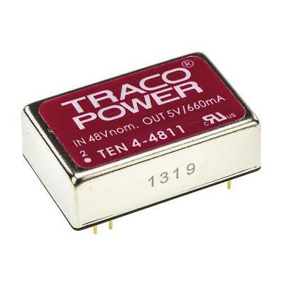 1 x TRACOPOWER Isolated DC-DC Converter TEN 4-4811, Vin 18-72V dc, Vout 5V dc