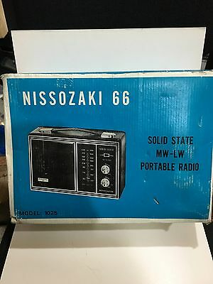 VIntage NISSOZAKI. 66. RADIO AM(MW)- LW BAND From The 1960s  WITH BOX
