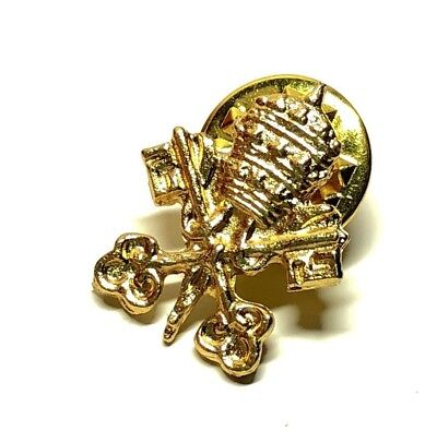 �� Coat of Arms VATICAN Pin ☆ Catholic ☆ Tie Tack Jacket Lapel pin ☆ HOLY SEE