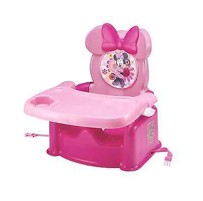 Minnie Mouse Seat Booster High Chair Tray Feeding Food Girls Toddlers Portable
