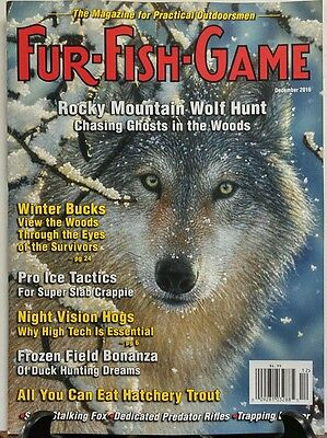 Fur Fish Game December 2016 Rocky Mountain Wolf Hunt Bucks FREE SHIPPING sb