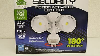 New Home Zone LED Motion Activated Security Light W/ 2137 Lumens 180* Detection
