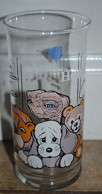 """Vintage 1982 E.T. The Extra Terrestrial """" HOME """" Glass Pizza Hut 6"""""""