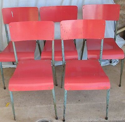 Vintage School Stacking Chairs DU-AL 1960's  Job Lot