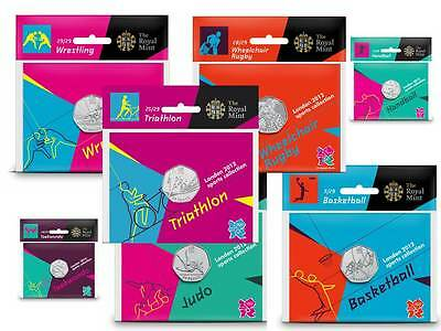 London 2012 Olympic 50p Coin Packs Brand New Sealed Perfect Uncirculated