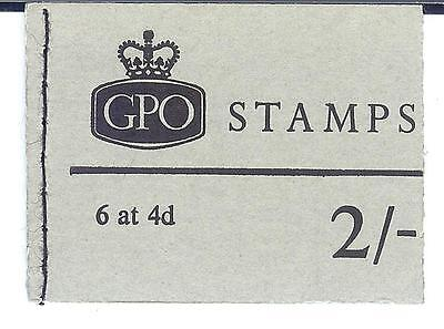 GB QE2 1969 / 1970 GPO 2/- stamp booklet with 6 at 4d stamps mint condition.