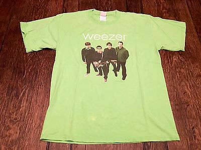 vintage WEEZER Green Album mens L large shirt alternative indie emo rock hipster