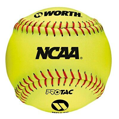 """NEW Worth 12"""" Official NCAA Softball Ball from Rebel Sport"""