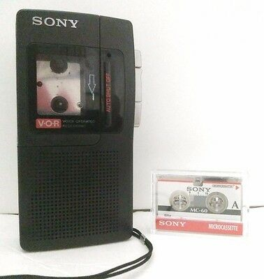 Sony VOR Micro Cassette Recorder M-440V Tested Working + 1 MC-60 Sony Tape
