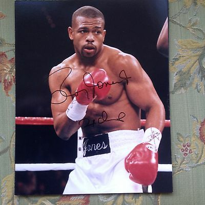Roy Jones Jr Super Middleweight  Boxing  Champion Autographed Photo