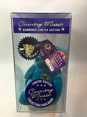 New Rare Limited Edition 1999 Country Music collectible Bears Tim McGraw #932